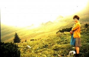 Gerda Kumpfmüller beim Wandern
