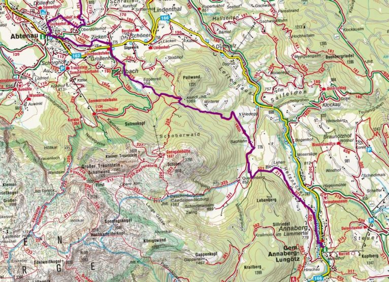 Pilgerweg Etappenplan